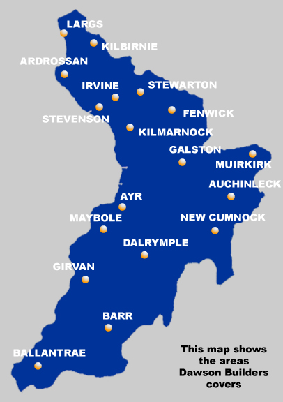 Dawson Builders Ayrshire Areas Covered